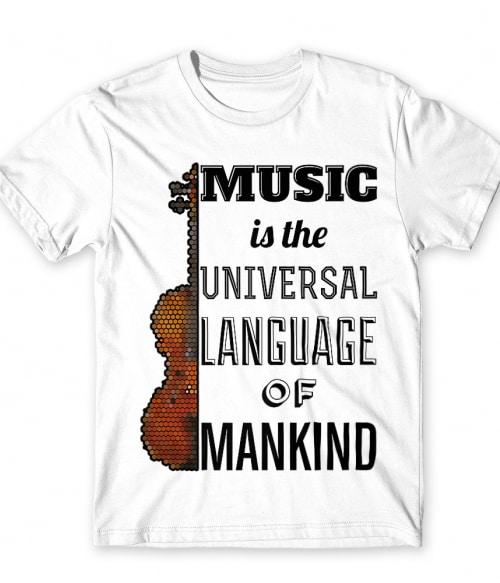 Music language violin Póló - Ha Hobby rajongó ezeket a pólókat tuti imádni fogod!
