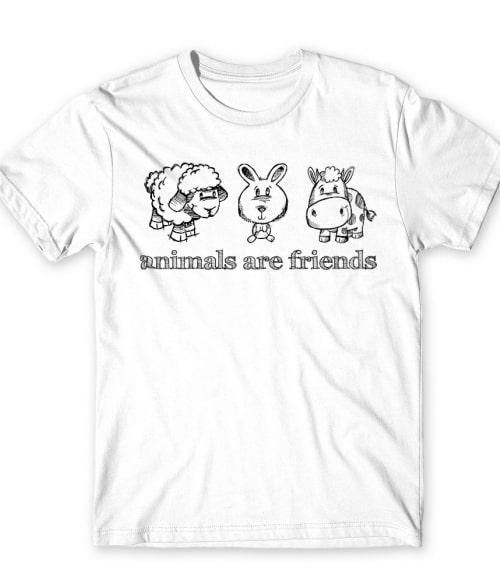 Az állatok barátok Póló - Ha Vegetarian rajongó ezeket a pólókat tuti imádni fogod!