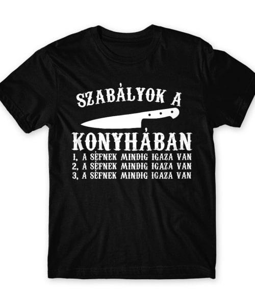 Konyhai szabályok Póló - Ha Hobby rajongó ezeket a pólókat tuti imádni fogod!