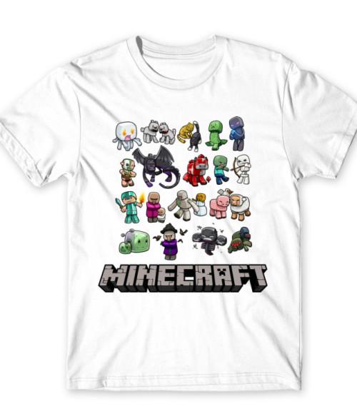 Minecraft characters Póló - Ha Minecraft rajongó ezeket a pólókat tuti imádni fogod!