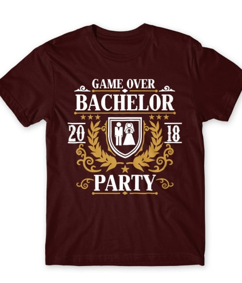 Bachelor party Game Over Póló - Ha Bachelor Party rajongó ezeket a pólókat tuti imádni fogod!