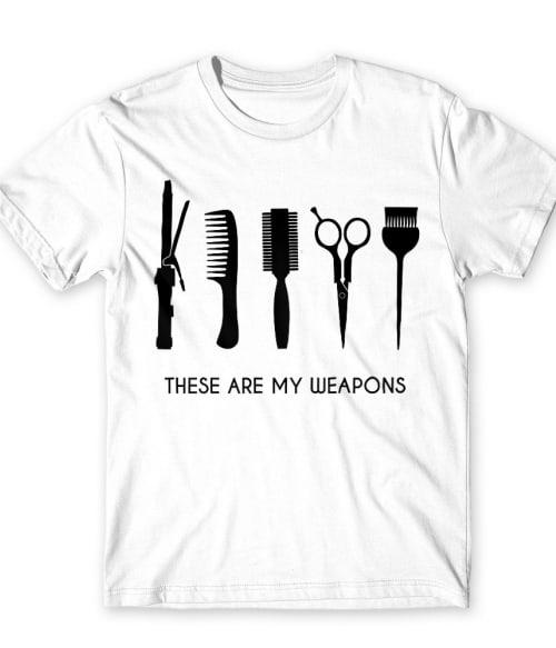 Hair weapons Póló - Ha Hairdresser rajongó ezeket a pólókat tuti imádni fogod!