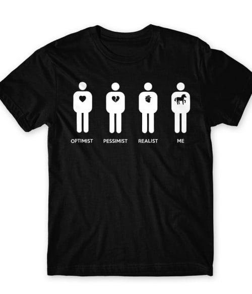 Optimist Pessimist Realist Horse Póló - Ha Horse rajongó ezeket a pólókat tuti imádni fogod!