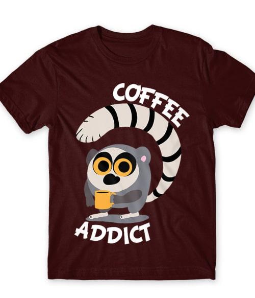 Coffee Lemur Póló - Ha Lemur rajongó ezeket a pólókat tuti imádni fogod!