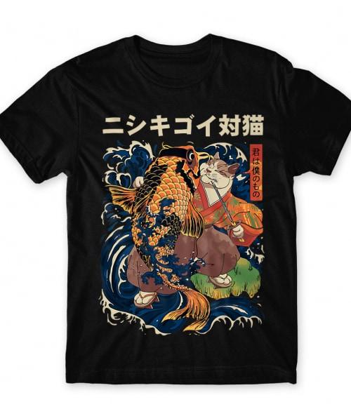 Samurai cat Póló - Ha Cat rajongó ezeket a pólókat tuti imádni fogod!