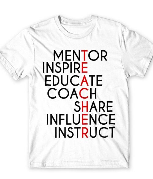 Teacher words Póló - Ha Teacher rajongó ezeket a pólókat tuti imádni fogod!