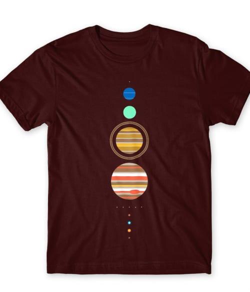 Solar system minimal Póló - Ha Astronomy rajongó ezeket a pólókat tuti imádni fogod!