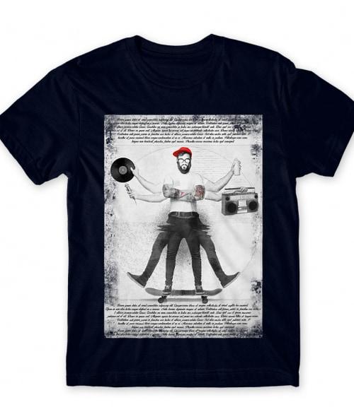 Skate Da Vinci Póló - Ha Skateboard rajongó ezeket a pólókat tuti imádni fogod!