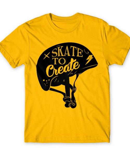 Skate to Create Póló - Ha Skateboard rajongó ezeket a pólókat tuti imádni fogod!