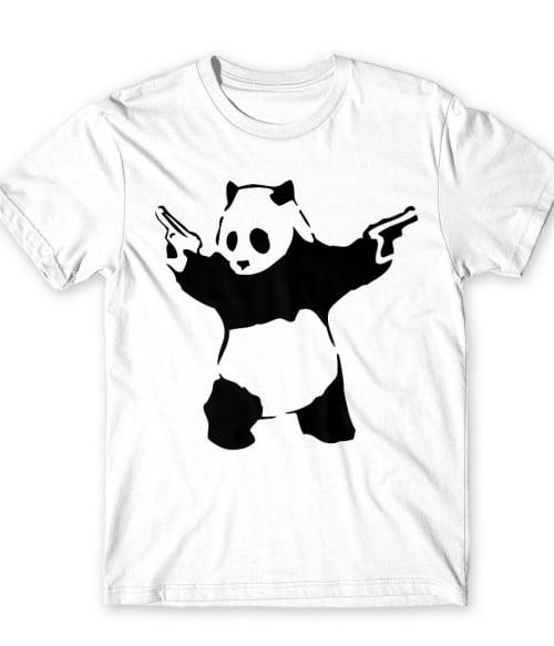 Panda with guns Póló - Ha Graffiti rajongó ezeket a pólókat tuti imádni fogod!