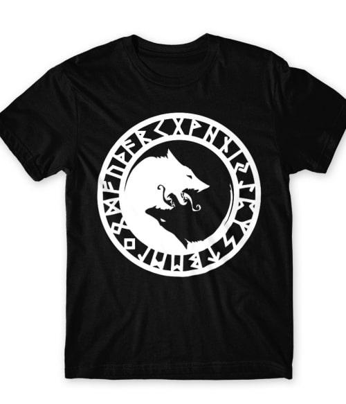 Viking wolf logo Póló - Ha Vikings rajongó ezeket a pólókat tuti imádni fogod!