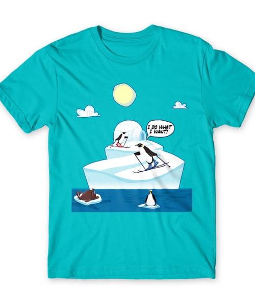 Skiing Penguin Póló - Ha Ski rajongó ezeket a pólókat tuti imádni fogod!