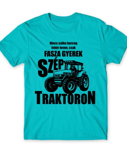 Fasza gyerek szép traktoron Póló - Ha Tractor rajongó ezeket a pólókat tuti imádni fogod!