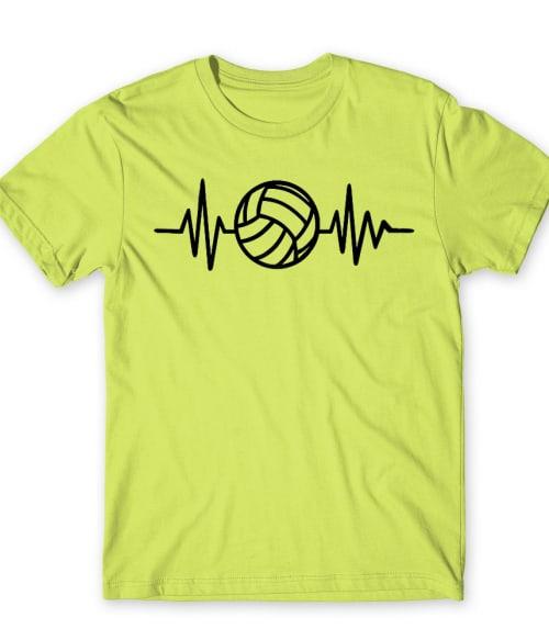 Volleyball heartbeat Póló - Ha Volleyball rajongó ezeket a pólókat tuti imádni fogod!
