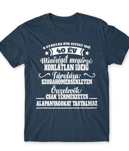 Eltelt idő 40 év Póló - Ha Birthday rajongó ezeket a pólókat tuti imádni fogod!