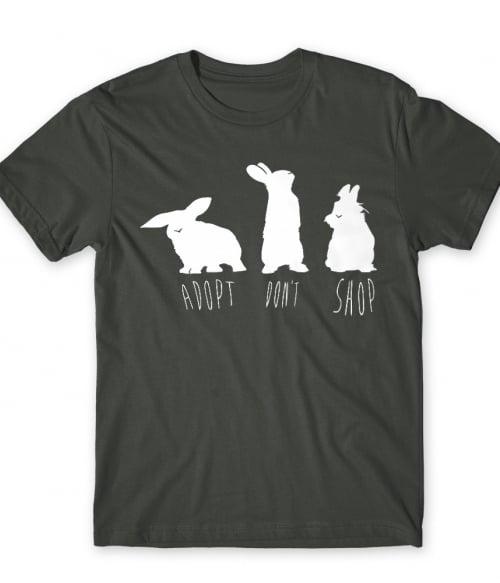 Adopt don't shop bunny Póló - Ha Rabbit rajongó ezeket a pólókat tuti imádni fogod!