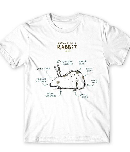 Anatomy of a rabbit Póló - Ha Rabbit rajongó ezeket a pólókat tuti imádni fogod!