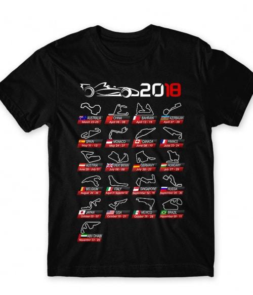 F1 race tracks Póló - Ha Formula 1 rajongó ezeket a pólókat tuti imádni fogod!