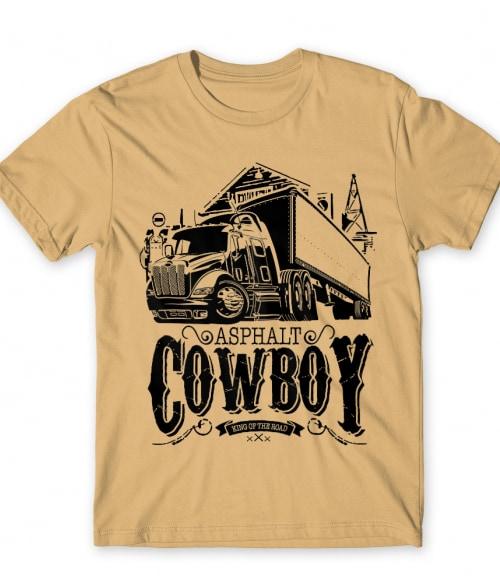 Asphalt Cowboy Póló - Ha Truck Driver rajongó ezeket a pólókat tuti imádni fogod!
