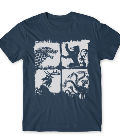 House Sigils Póló - Ha Game of Thrones rajongó ezeket a pólókat tuti imádni fogod!