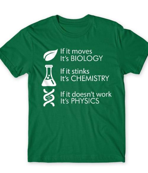 Biology Chemistry Physics Póló - Ha Science rajongó ezeket a pólókat tuti imádni fogod!