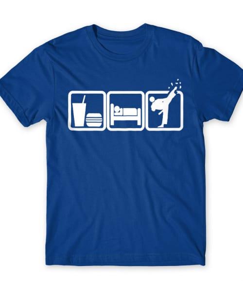 Eat sleep karate Póló - Ha Karate rajongó ezeket a pólókat tuti imádni fogod!