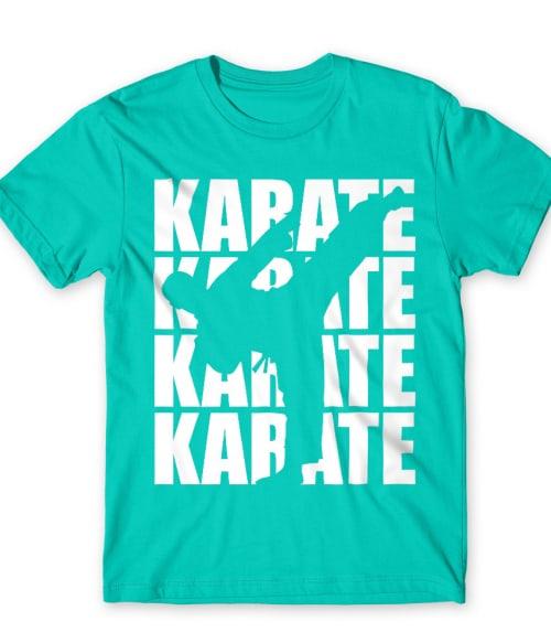 Karate silhouette Póló - Ha Karate rajongó ezeket a pólókat tuti imádni fogod!