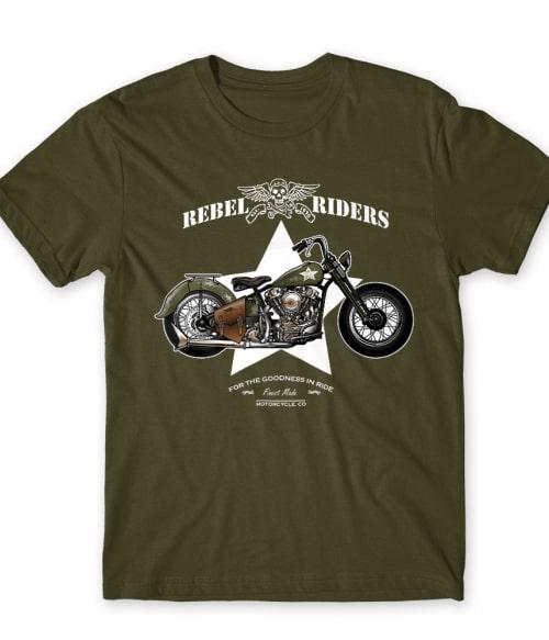 Rebel Riders Póló - Ha Motorcycle rajongó ezeket a pólókat tuti imádni fogod!