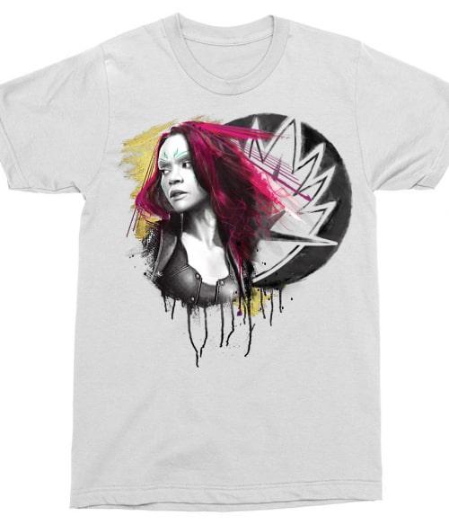Gamora splash Póló - Ha Guardians of the Galaxy rajongó ezeket a pólókat tuti imádni fogod!