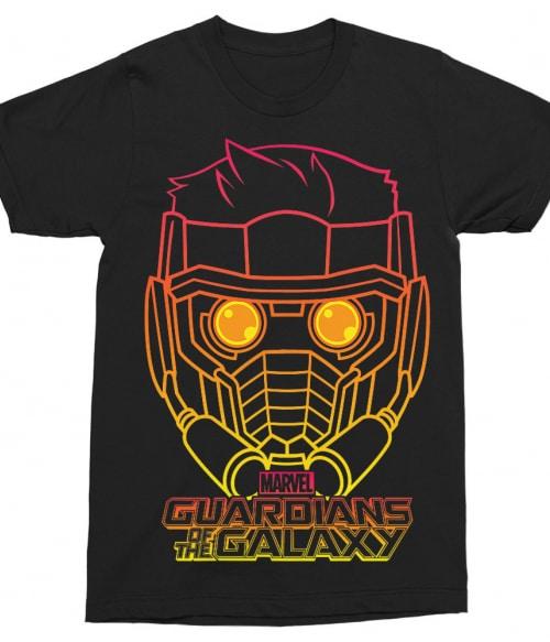 Star Lord outline Póló - Ha Guardians of the Galaxy rajongó ezeket a pólókat tuti imádni fogod!