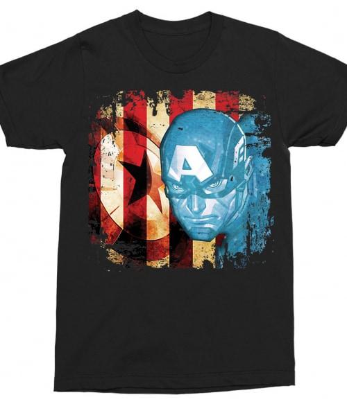 Captain America grunge Póló - Ha Captain America rajongó ezeket a pólókat tuti imádni fogod!