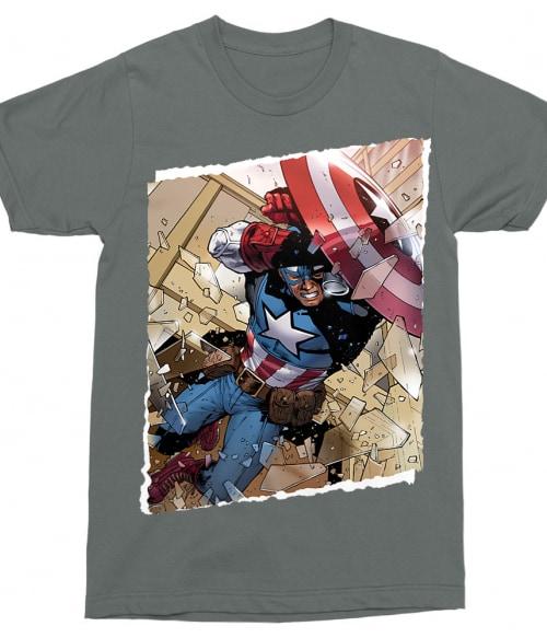 Captain America jump Póló - Ha Captain America rajongó ezeket a pólókat tuti imádni fogod!