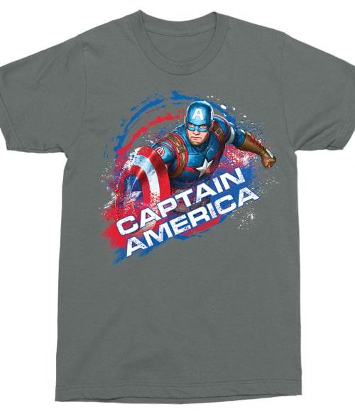 Captain America Splash Póló - Ha Captain America rajongó ezeket a pólókat tuti imádni fogod!