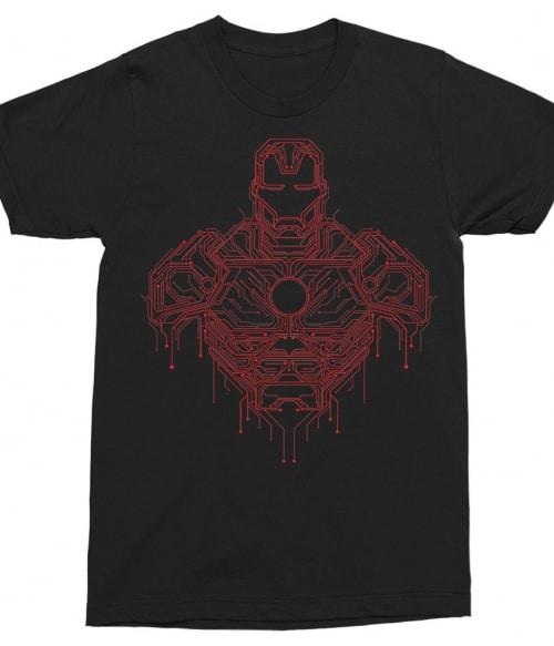 Iron Man circuit Póló - Ha Iron Man rajongó ezeket a pólókat tuti imádni fogod!