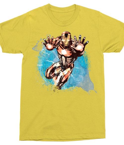 Iron Man watercolor Póló - Ha Iron Man rajongó ezeket a pólókat tuti imádni fogod!