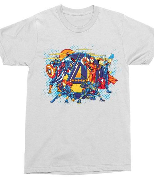 Avengers Group Shot Póló - Ha Avengers rajongó ezeket a pólókat tuti imádni fogod!