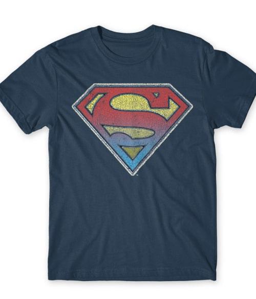 Superman gradient logo Póló - Ha Superman rajongó ezeket a pólókat tuti imádni fogod!