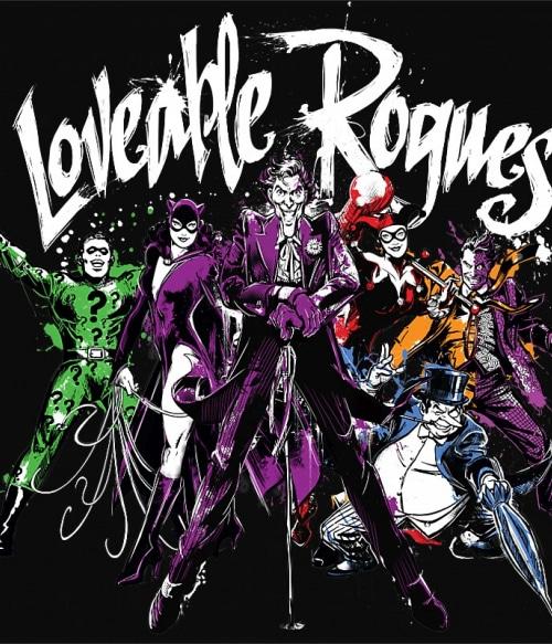 Loveable Rogues Póló - Ha Batman rajongó ezeket a pólókat tuti imádni fogod!
