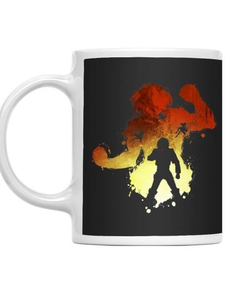 Eren Silhouette Póló - Attack on Titan - Grenn