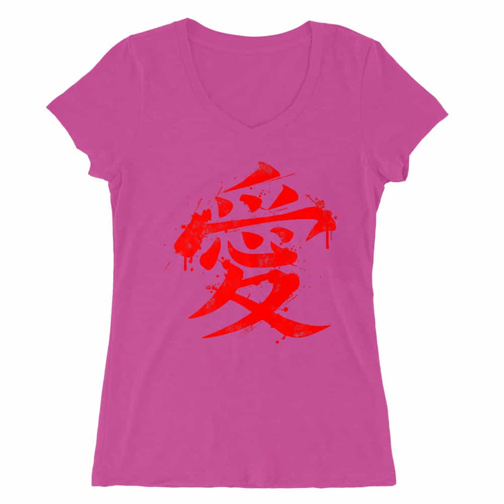 Gaara Symbol Női V-nyakú Póló