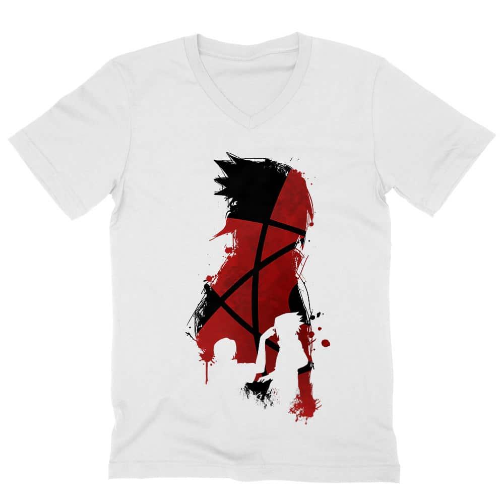 Sasuke and Itachi Férfi V-nyakú Póló