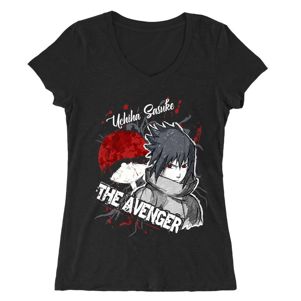 Sasuke Uchiha - The Avenger Női V-nyakú Póló