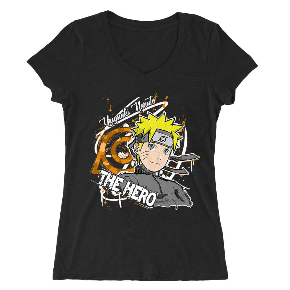 Uzumaki Naruto - The Hero Női V-nyakú Póló