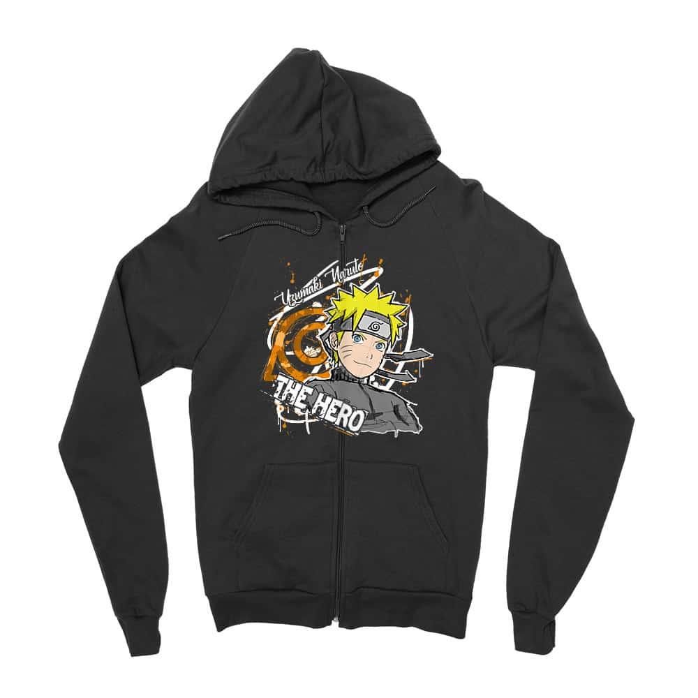 Uzumaki Naruto - The Hero Zipzáros Pulóver