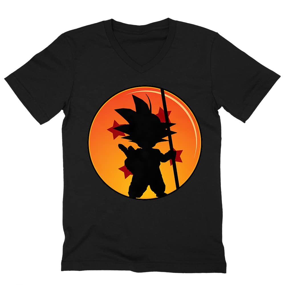 Little Goku Férfi V-nyakú Póló
