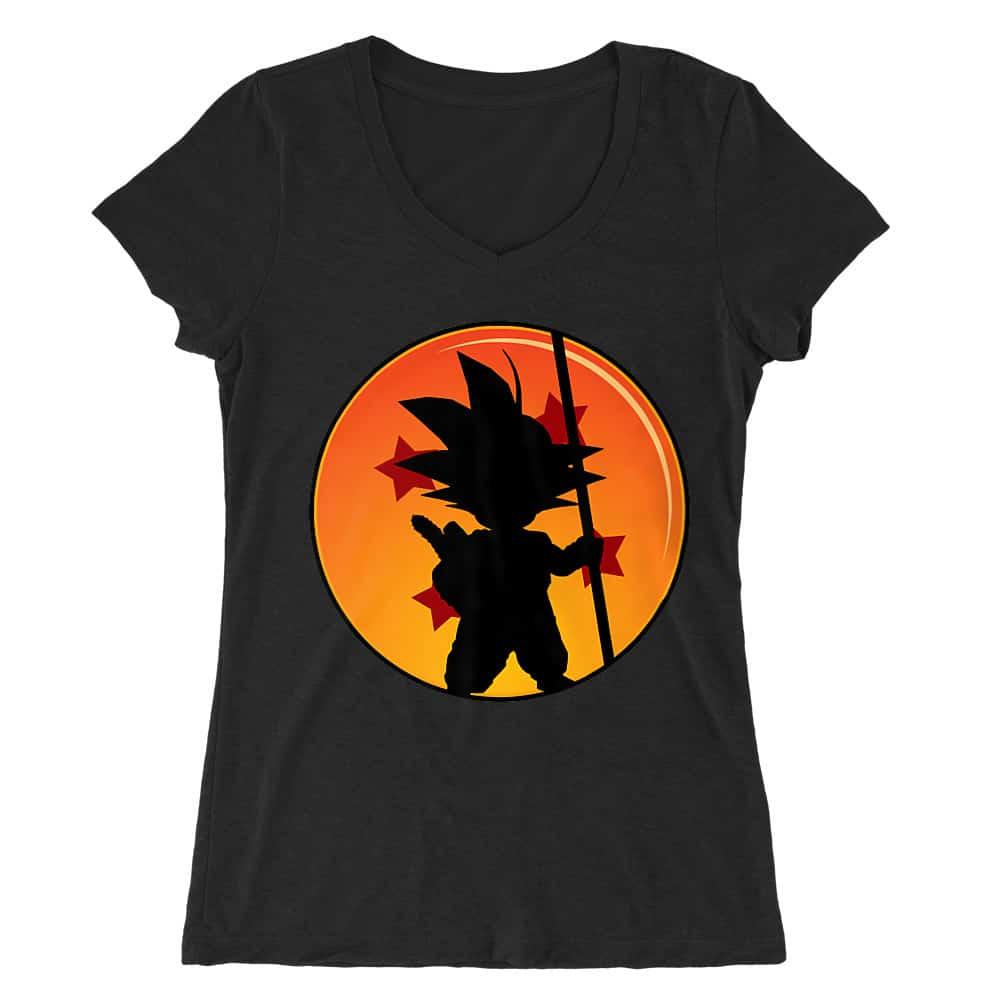 Little Goku Női V-nyakú Póló