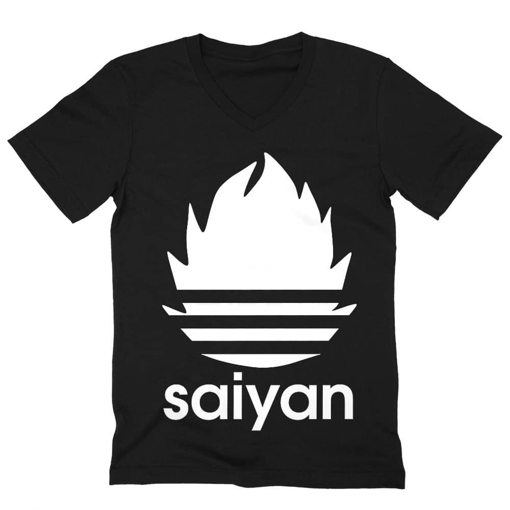Saiyan Adidas Férfi V-nyakú Póló