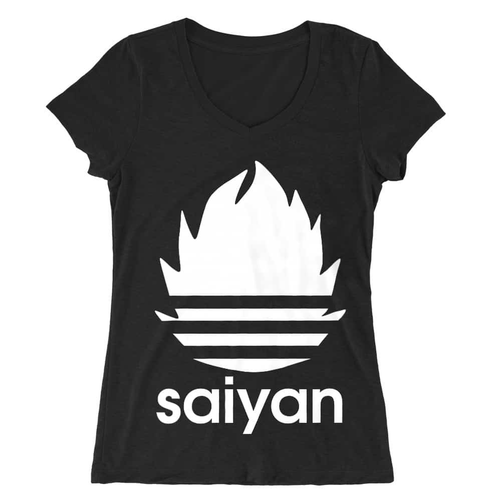Saiyan Adidas Női V-nyakú Póló