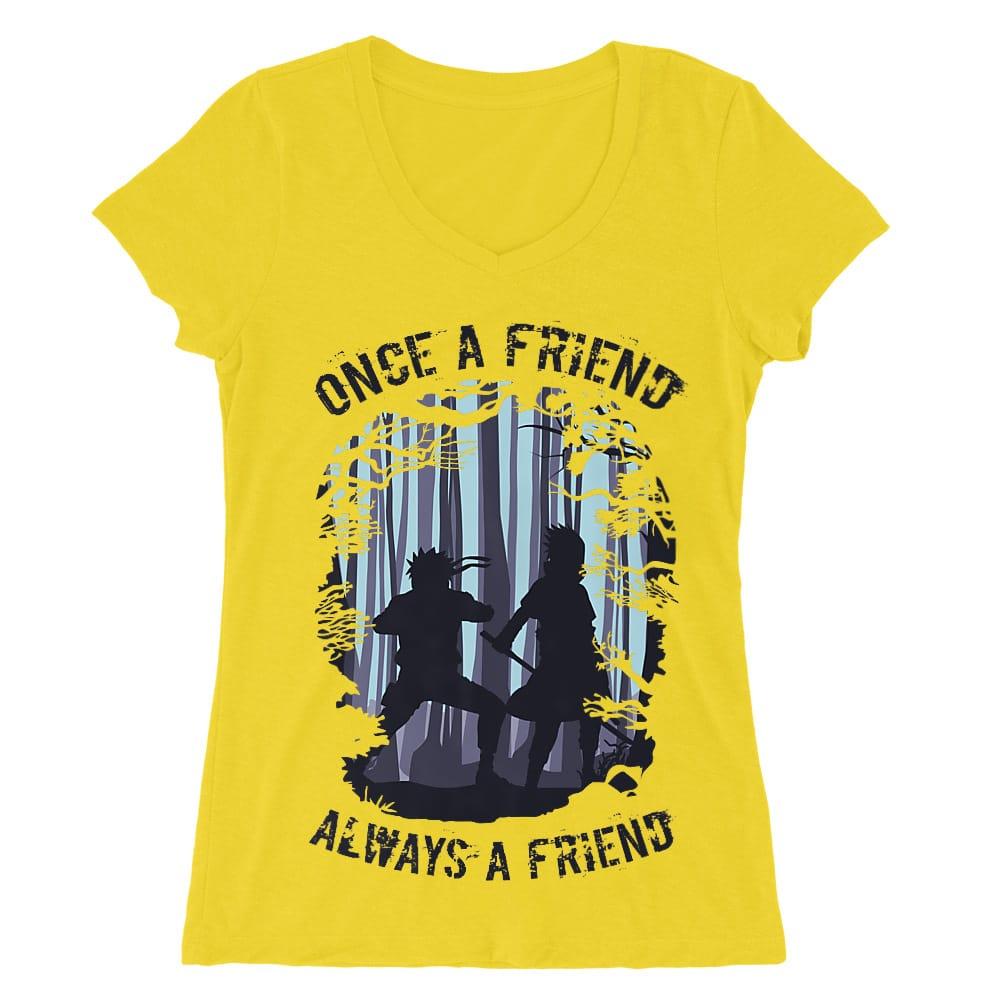 Once a friend Női V-nyakú Póló