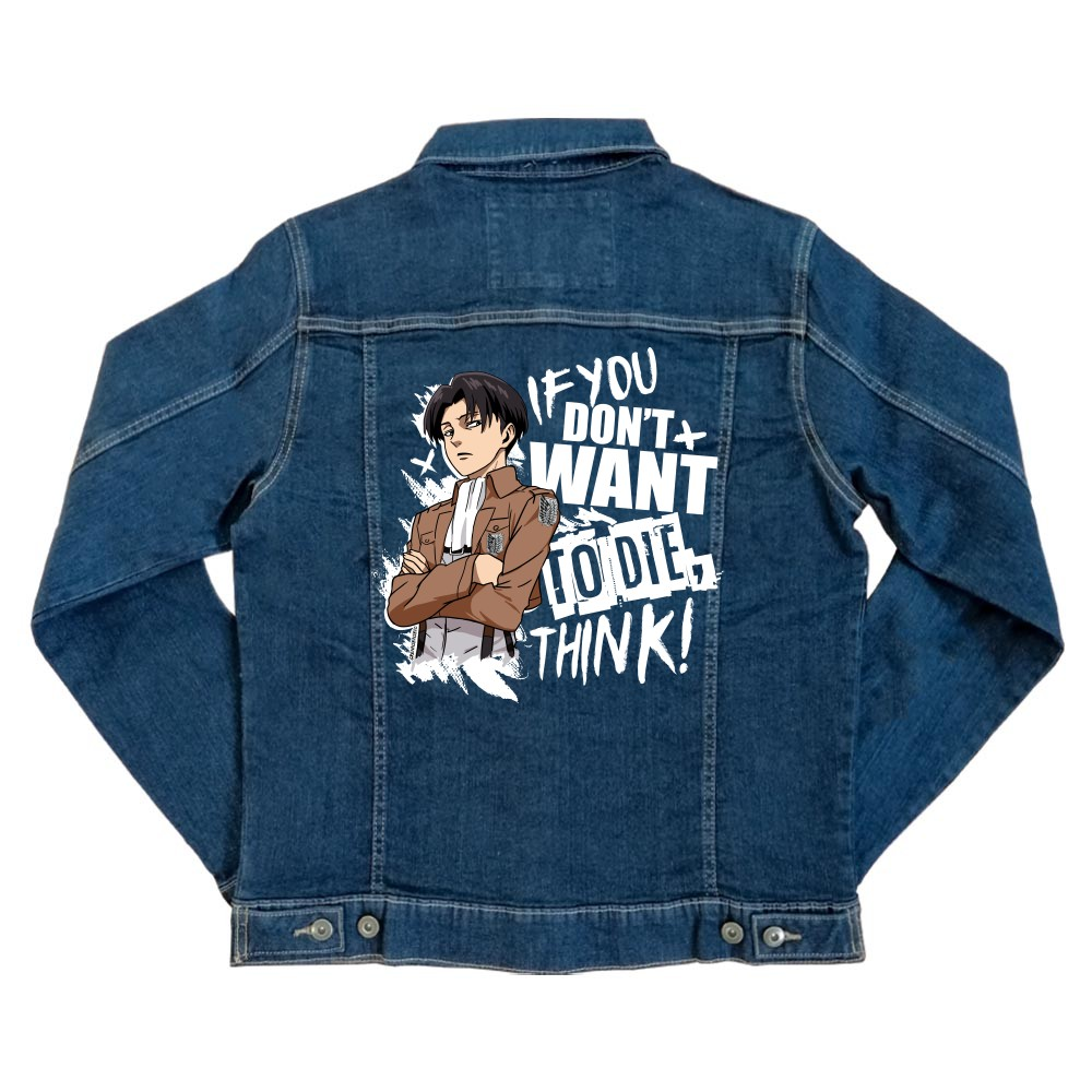 If you don't want to die - Levi Unisex Farmerkabát